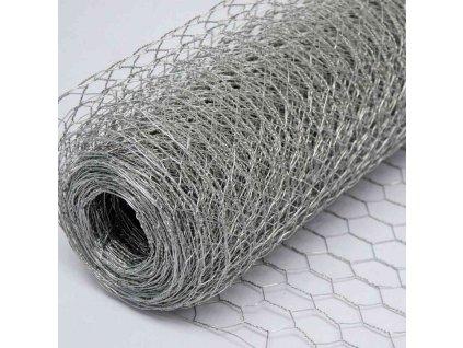 ŠESŤHRANNÉ PLETIVO, POZINKOVANÉ, 1.0 x 50 m / 20 x 20 / 0.5 mm