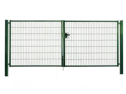 DVOJKRÍDLOVÁ BRÁNA STRONG - ZELENÁ, 1250 x 3600 mm