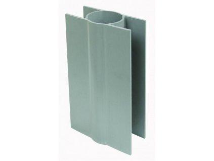 PVC DRŽIAK PODHRABOVEJ DOSKY 20 cm - SIVÝ, PRE STĹPIKY 38 mm