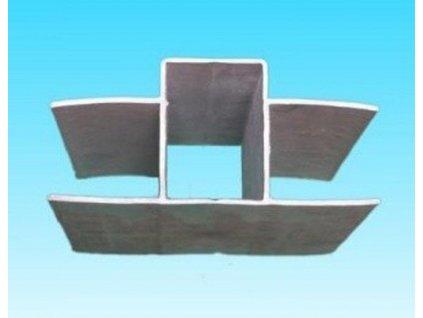 PVC DRŽIAK PODHRABOVEJ DOSKY 20 cm - SIVÝ, PRE STĹPIKY 60 x 40 mm