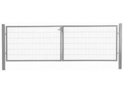 DVOJKRÍDLOVÁ BRÁNA OPTIM - ANTRACITOVÁ, 1250 x 3600 mm