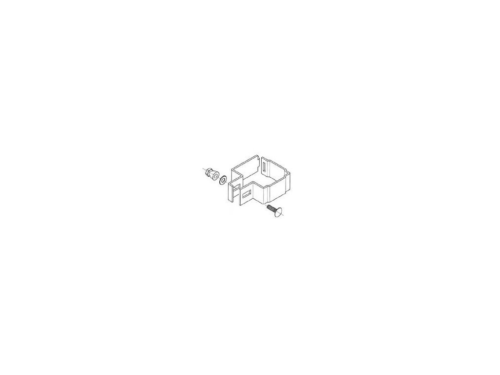 OBJÍMKA PRE KONCOVÝ STĹPIK DECOFOR® - ČIERNA (6 ks / balenie)