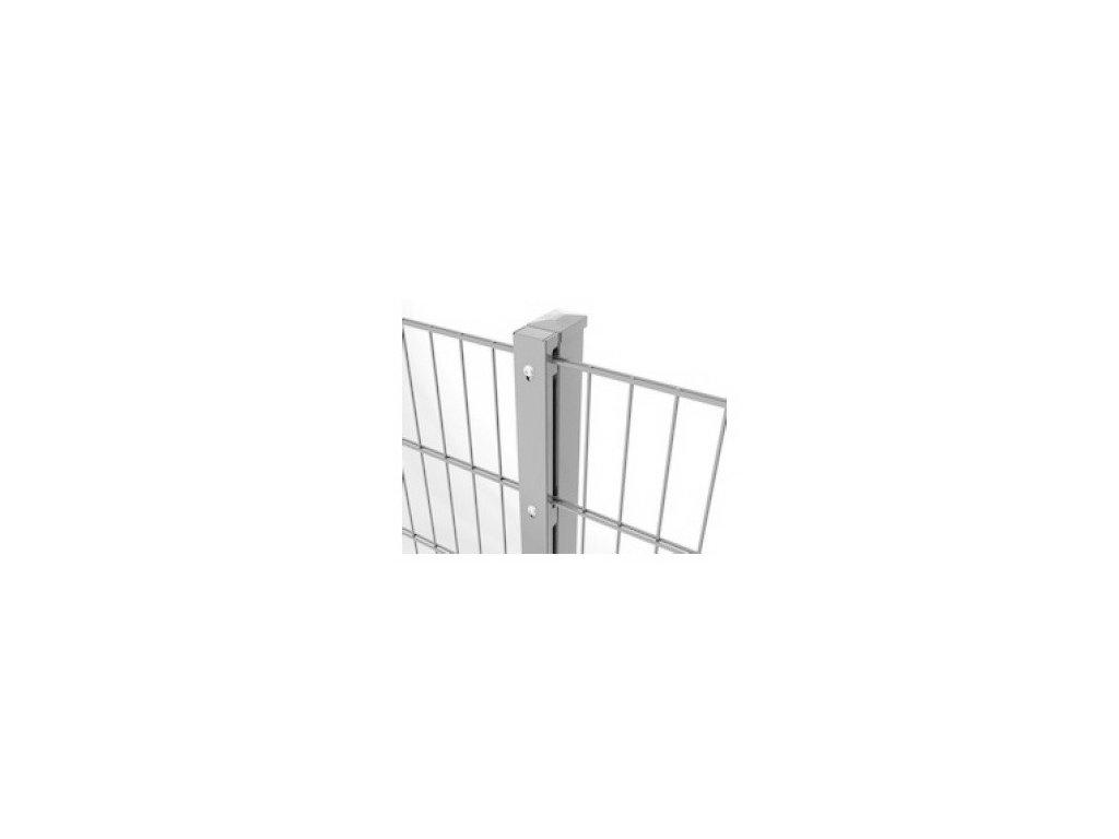 OBDĹŽNIKOVÝ STĹPIK D-LOX - POZINKOVANÝ, 2400 / 40 x 60 / 2.0 mm
