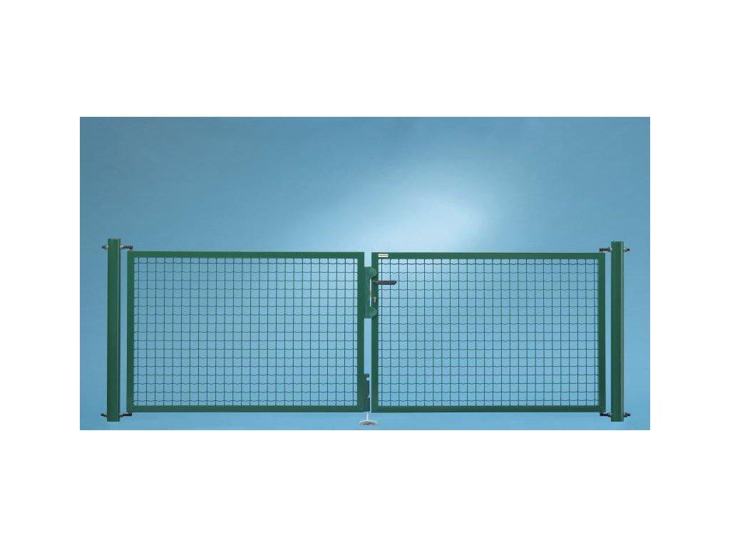 DVOJKRÍDLOVÁ BRÁNA FORTINET® - ZELENÁ, 1450 x 4000 mm