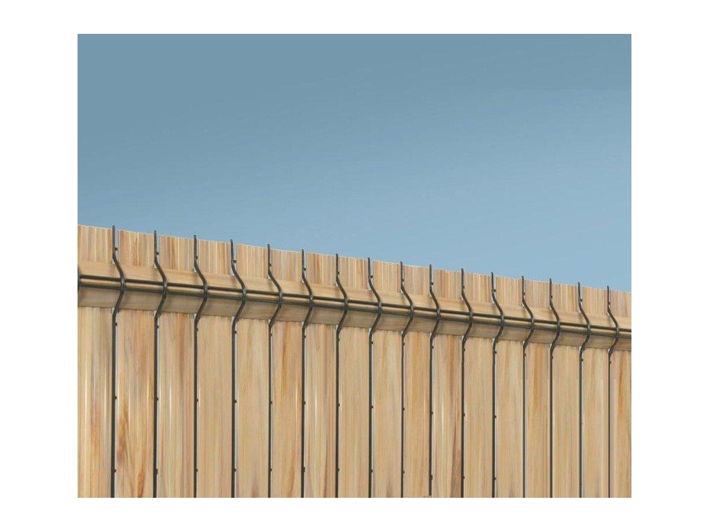 """PLASTOVÁ VÝPLŇ PRE PANELY NYLOFOR® 243 cm """"NYLOFOR SCREENO® LINE"""" - SVETLÉ DREVO"""