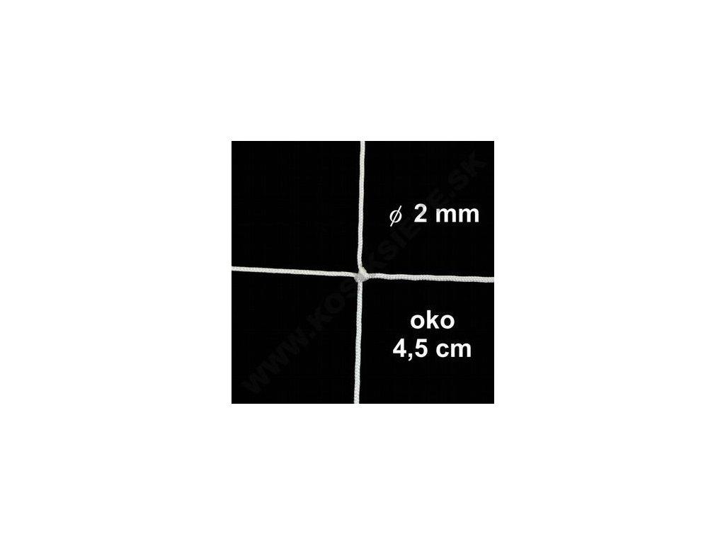 OCHRANNÁ SIEŤ Z 2 mm ŠNÚRY, OKO 4.5 cm, BIELA FARBA, 1 m2