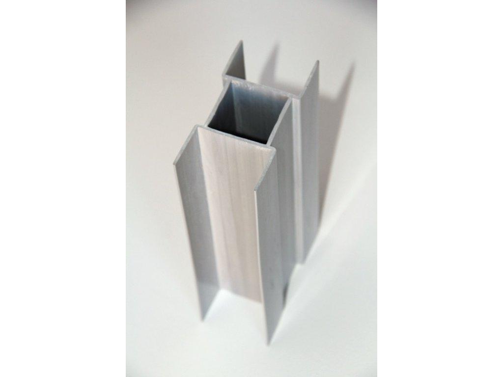PVC DRŽIAK PODHRABOVEJ DOSKY 50 cm - SIVÝ PRE STĹPIKY 48 mm