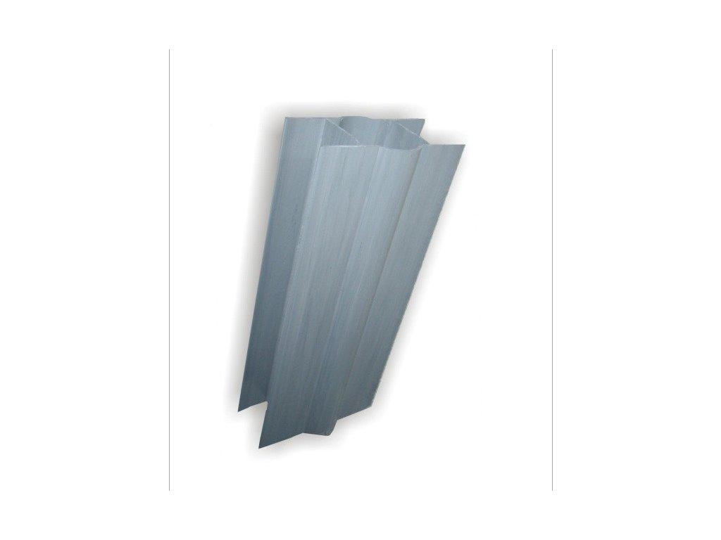 PVC DRŽIAK PODHRABOVEJ DOSKY 20 cm - SIVÝ PRE STĹPIKY 48 mm - ŠÍRKA DOSKY 4 cm