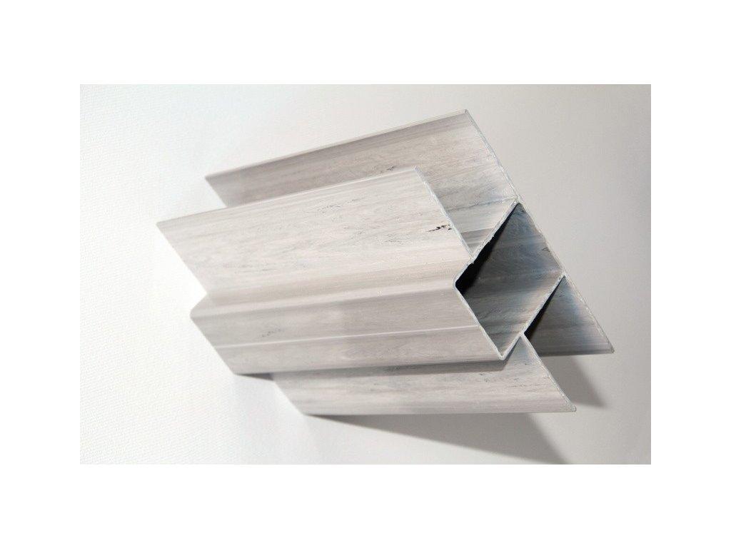 PVC DRŽIAK PODHRABOVEJ DOSKY 25 cm - SIVÝ PRE STĹPIKY 40 x 60 mm - ŠÍRKA DOSKY 4 cm