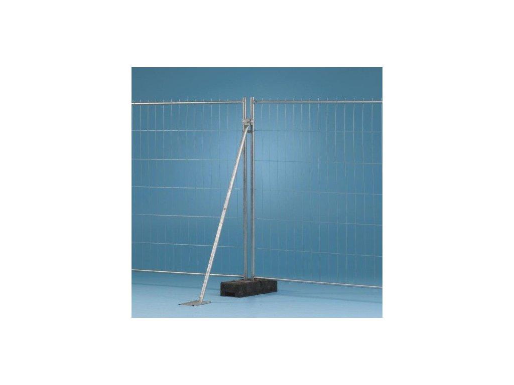 PODPORNÁ PÄTKA PRE MOBILNÝ PLOT TEMPOFOR® - platňa 200 x 300 mm, priemer 40 x 2,5 mm