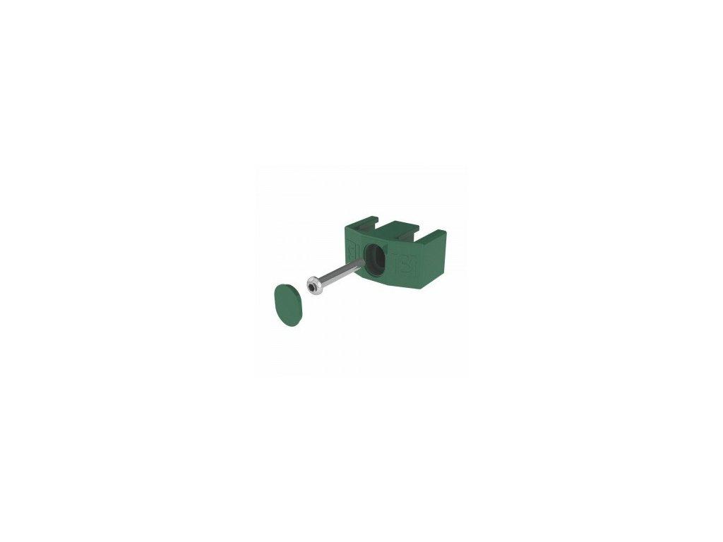 ÚCHYTY PRE PANELY NYLOFOR® 2D / 3D / 3 - M - POLYAMID - ZELENÉ (50 ks / bal.)