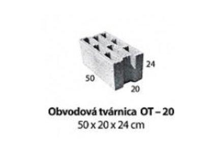 MUROVACIA TVÁRNICA 50 x 20 x 24 cm - BETÓNOVÁ