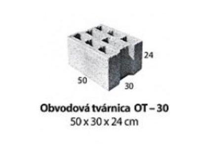 MUROVACIA TVÁRNICA 50 x 30 x 24 cm - BETÓNOVÁ