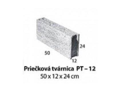 MUROVACIA PRIEČKOVÁ TVÁRNICA 50 x 12 x 24 cm - BETÓNOVÁ