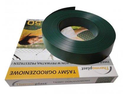 PLASTOVÁ VÝPLŇ PRE PLETIVÁ A PANELY, 47 mm (50m rolka) - ZELENÁ RAL 6005