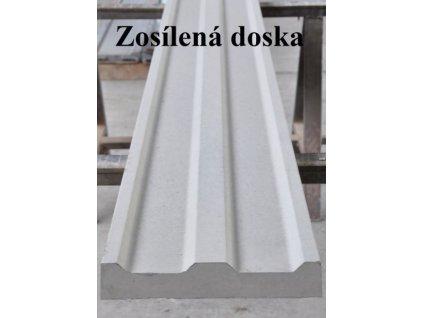 PODHRABOVÁ DOSKA, 2505 x 300 x 50 mm ZOSILNENÁ