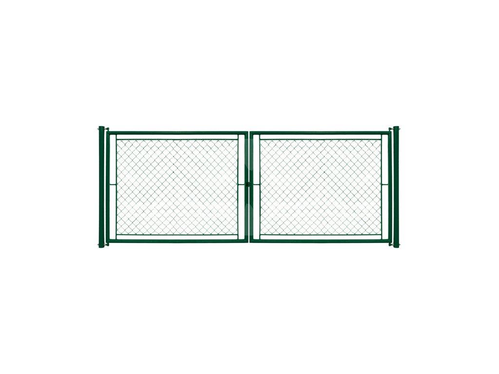 Plotová brána s okem - 1550x3600mm