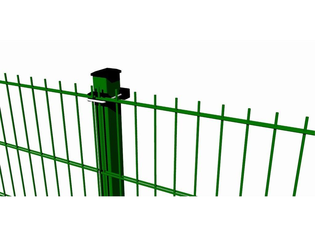 Plotový dílec 2D PVC - 1230x2500mm