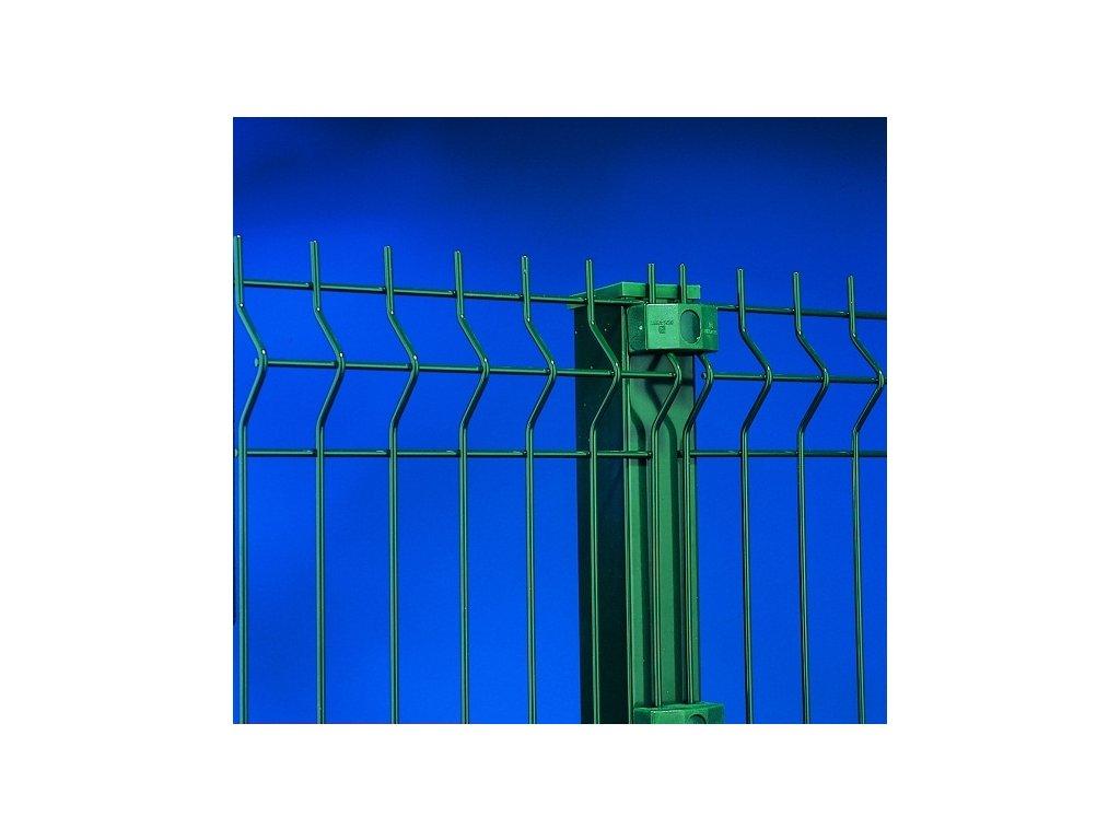 Plotový dílec LIGHT Zn.+PVC-3D/1030x2500mm