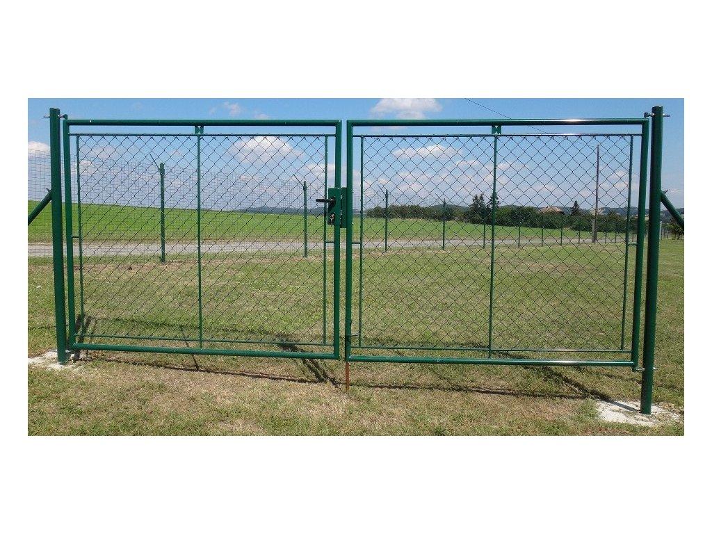 Zahradní brána dvoukřídlá FAB - 1000x3600mm