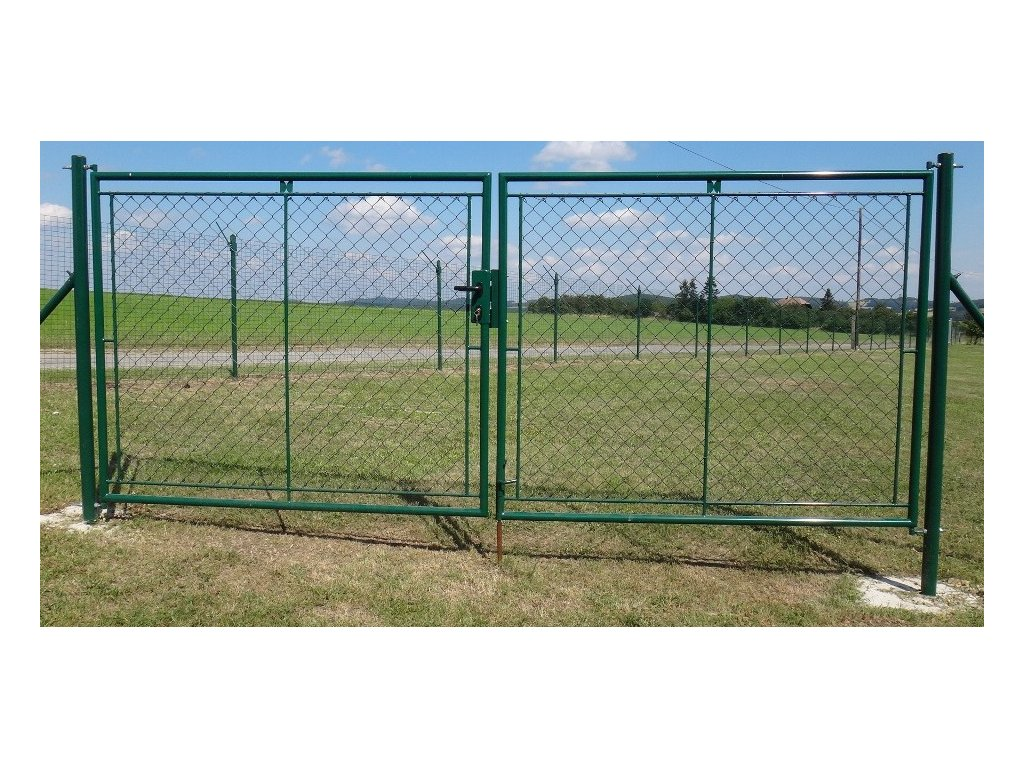 Zahradní brána dvoukřídlá FAB - 1250x3600mm