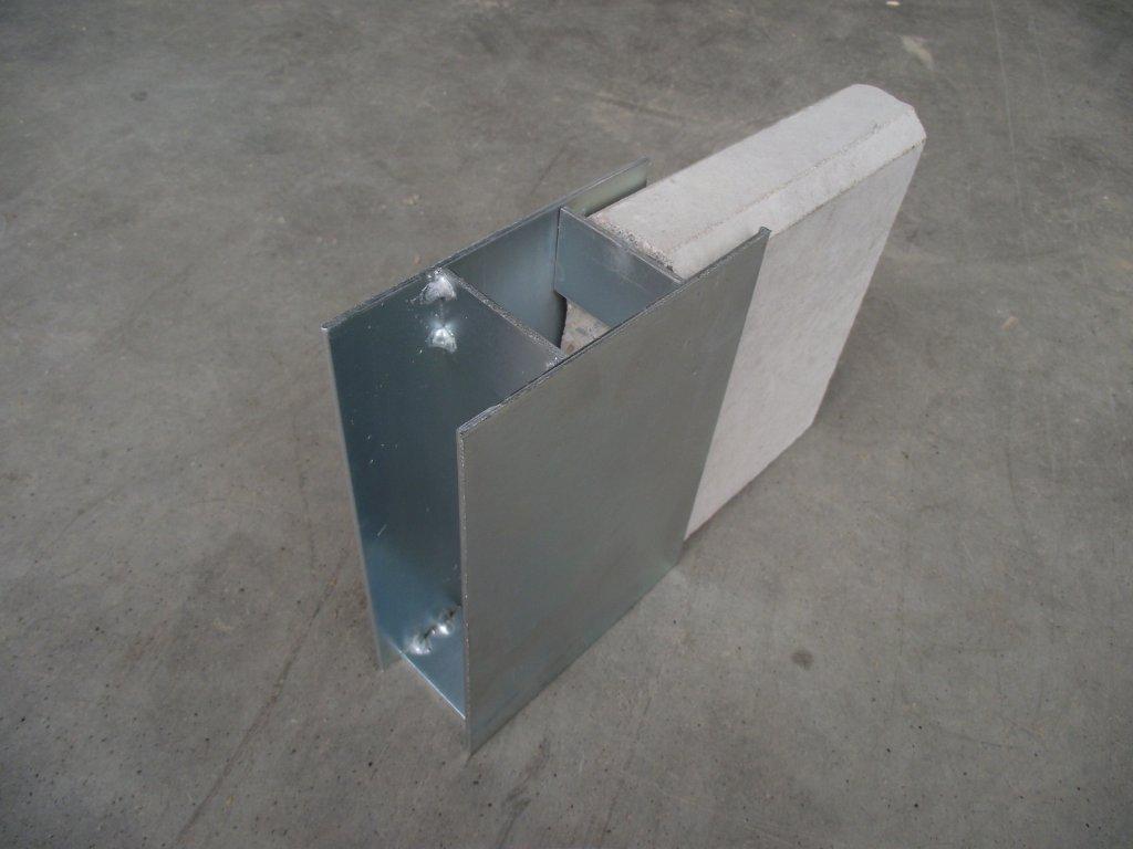 Držák podhrabové desky 20cm průběžný - SILNOSTĚNNÝ