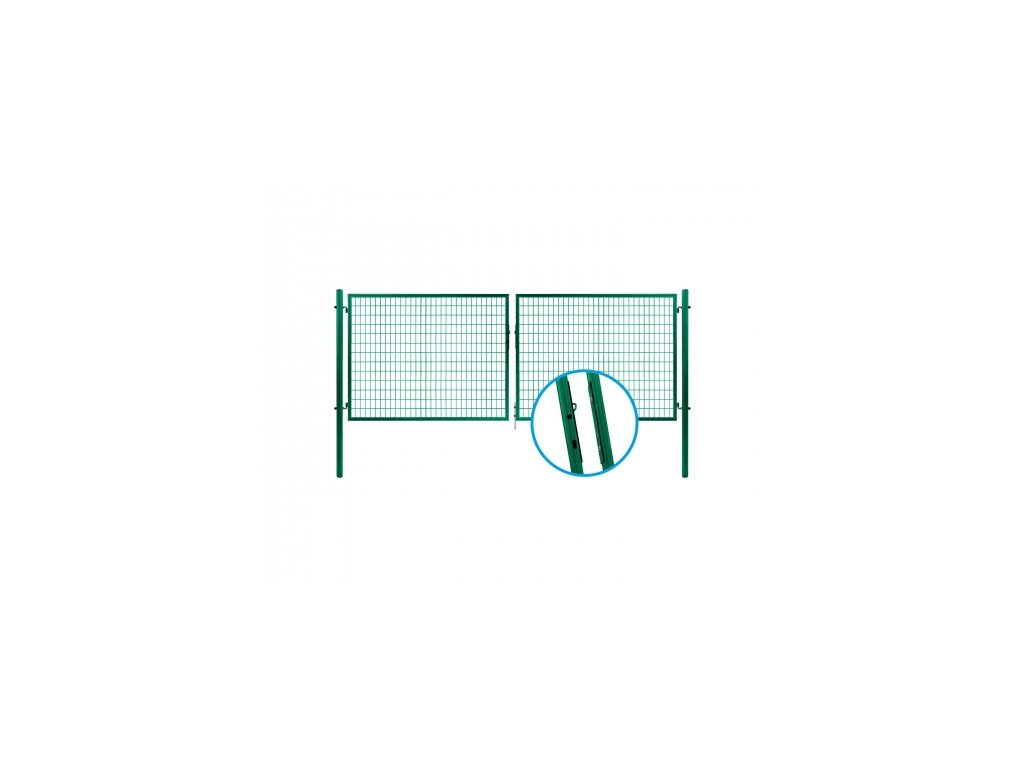 Brána SOLID ZN+PVC, 1200x3605mm