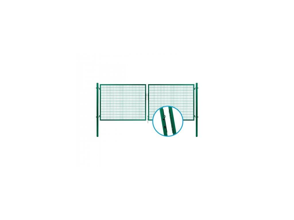 Brána SOLID ZN+PVC, 1750x3605mm