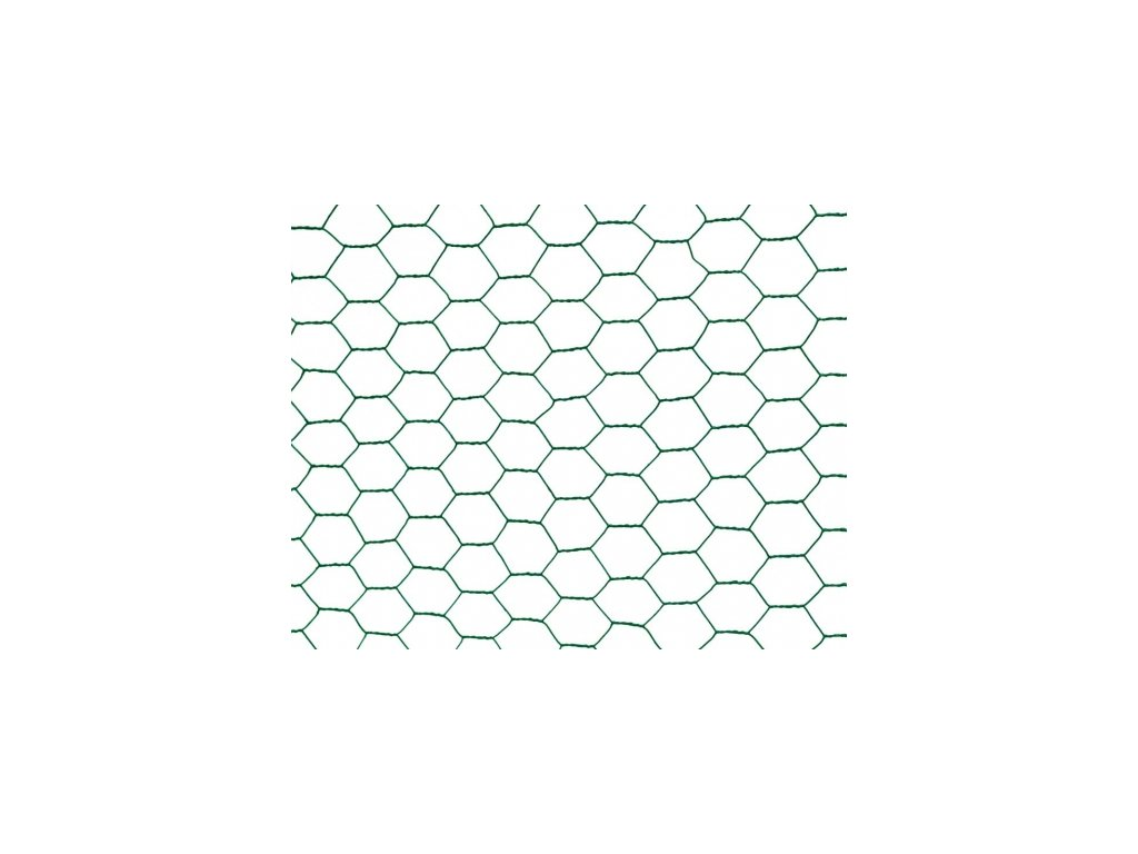 Králičí šestihranné pletivo ZN + PVC - 13/0,9mm - 25m