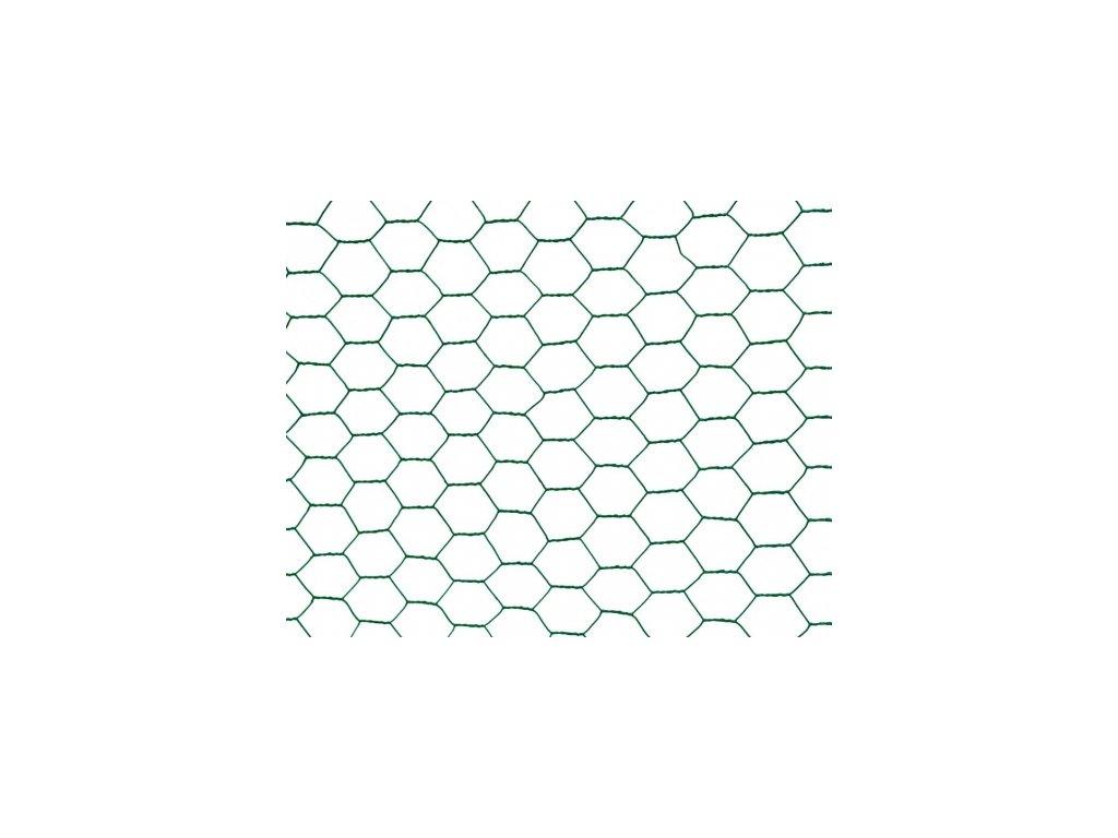 Králičí šestihranné pletivo ZN + PVC - 25/0,9mm - 25m