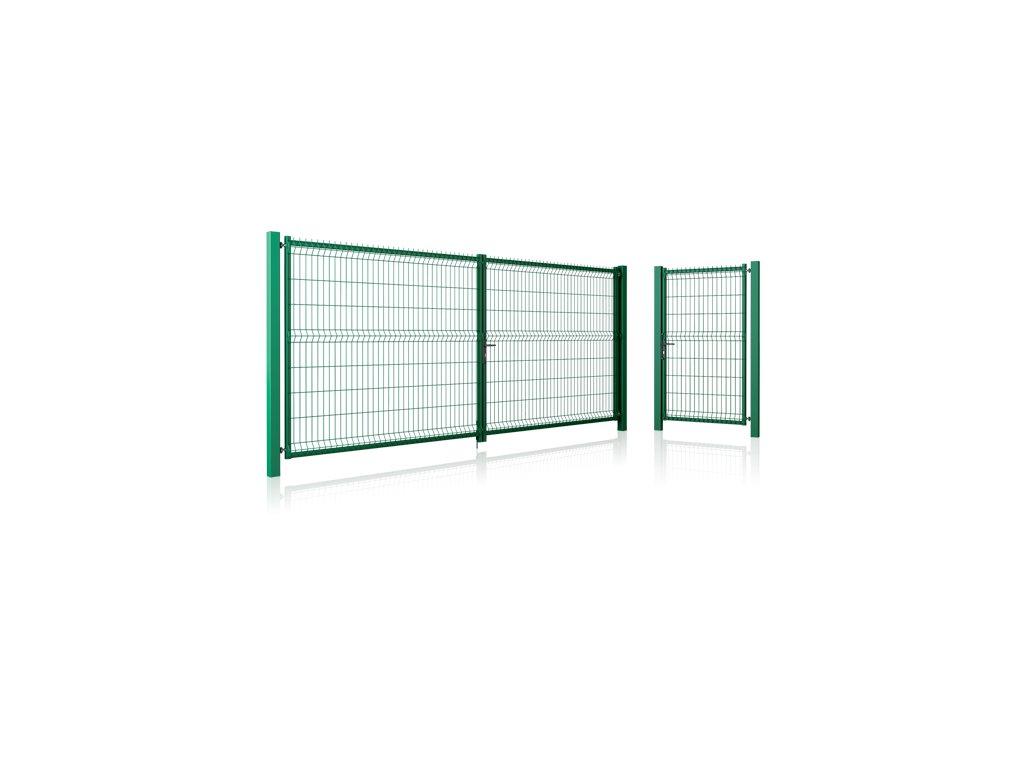 Brána a branka 3D ploty pepe zelená