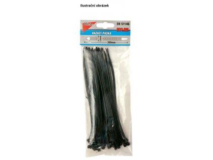 Vázací pásky 120x2,5mm, černá 50ks