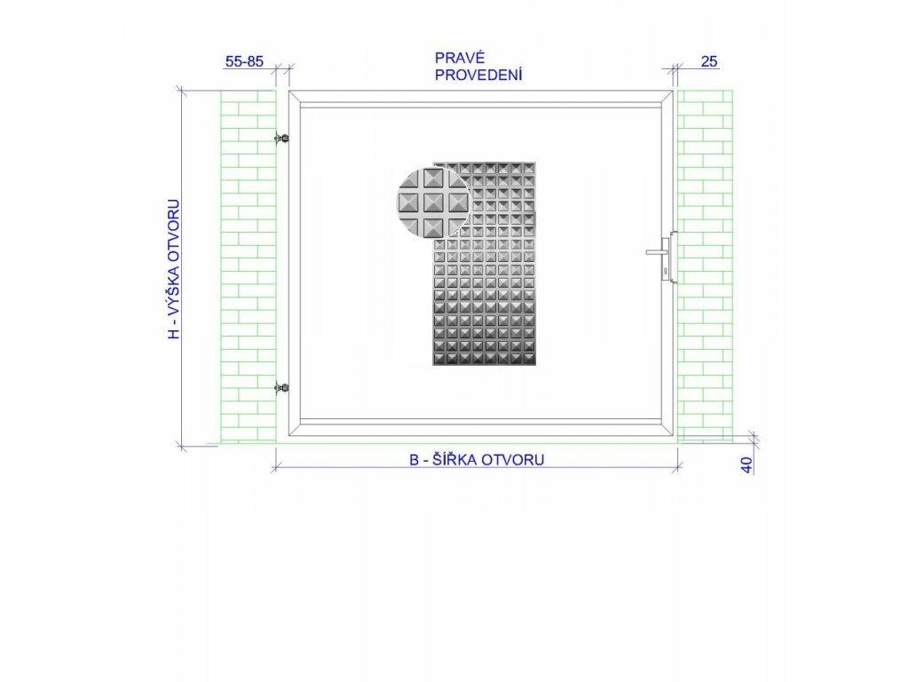 jednokřídlá čtverec