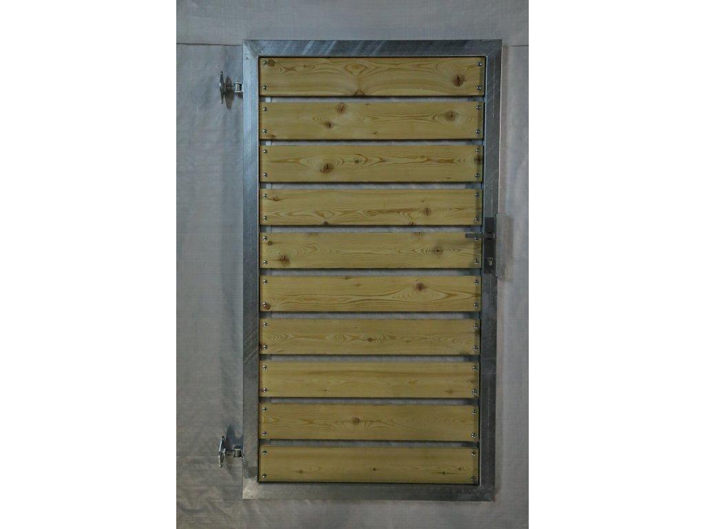Vchodová branka 1000x1600 s dřevěnou výplní, PRAVÁ