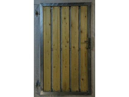 2Vchodová branka 1000x1600 s dřevěnou výplní, PRAVÁ