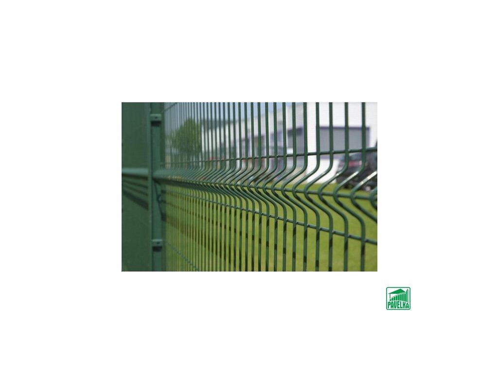 Plotový panel 3D pozinkovaný + poplastovaný- zelený
