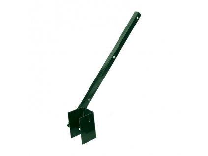 Bavolet na ostnatý drát pro sloupek 60x40 ZN+PVC-jednostranný