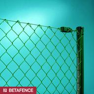 čtyřhranné pletivo Optimál a kruhový plotový sloupek Rezitor