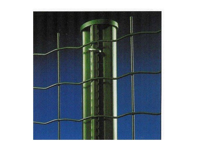 Sloupky ke svařovaným pletivům zelené výška 250 cm pr. 48 mm