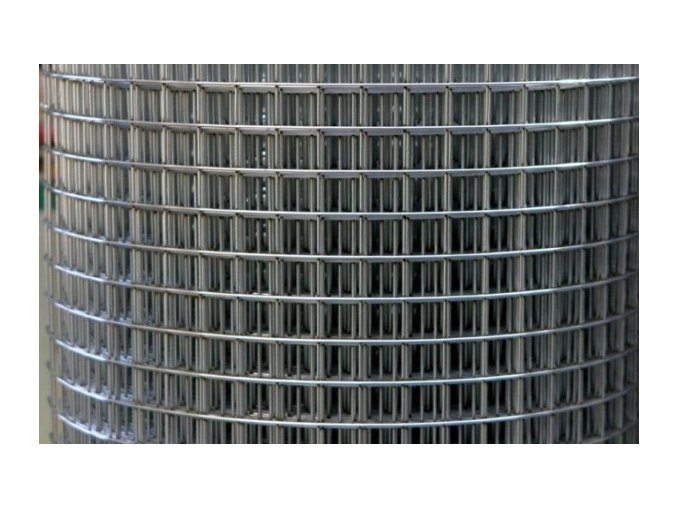 Svařované pozinkované pletivo oko 13,0x13,0 síla drátu 0,80 mm výška 100 cm - 25m v roli