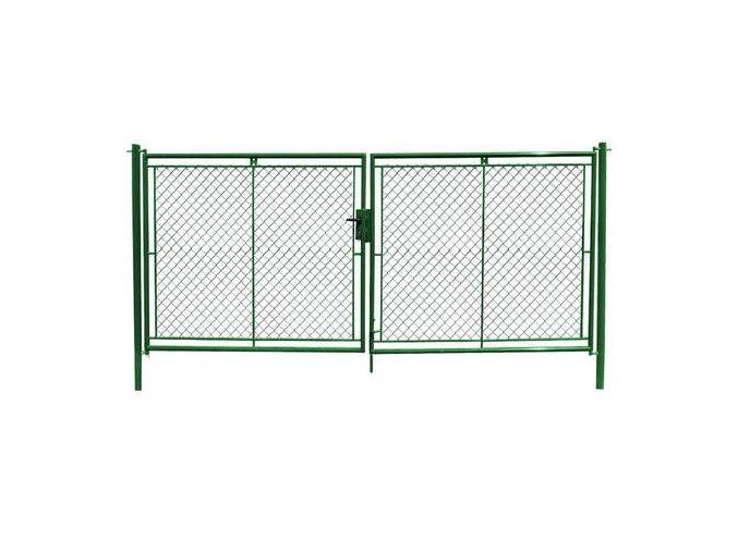 brana 2křídlá zelena