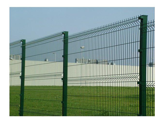 Sloupek jeklový (hranatý) 40x60 mm ZN + PVC  v. 2600 mm