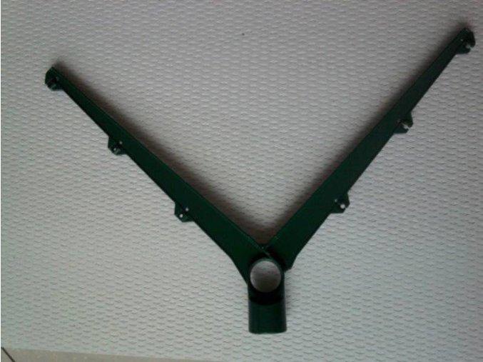 Bavolet dvoustranný Y AL+PVC pr.48 mm
