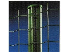 Sloupky ke svařovaným pletivům zelené výška 230 cm pr. 48 mm