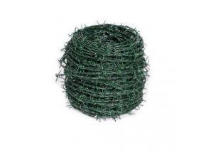 Ostnatý drát zelený