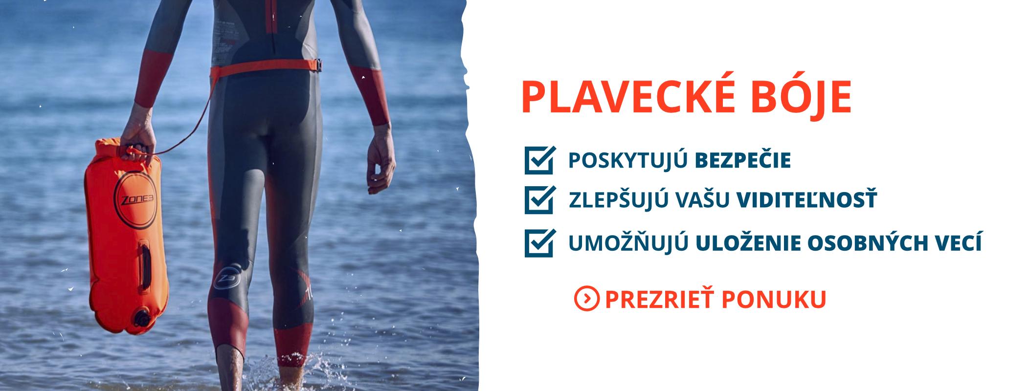 Nafukovacie bóje pre plávanie na otvorenej vode