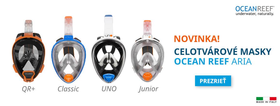 Nové celotvárové masky na šnorchlovanie Ocean Reef ARIA