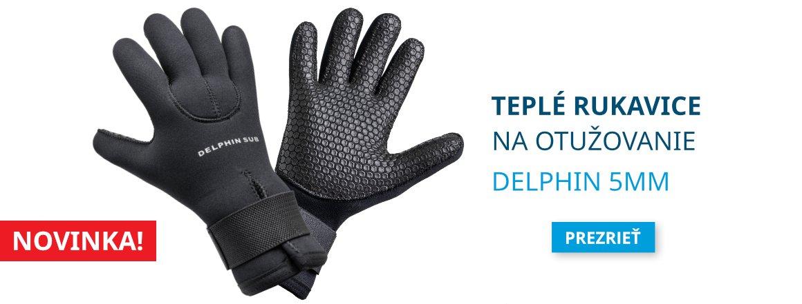 Rukavice na otužovanie Delphin 5MM