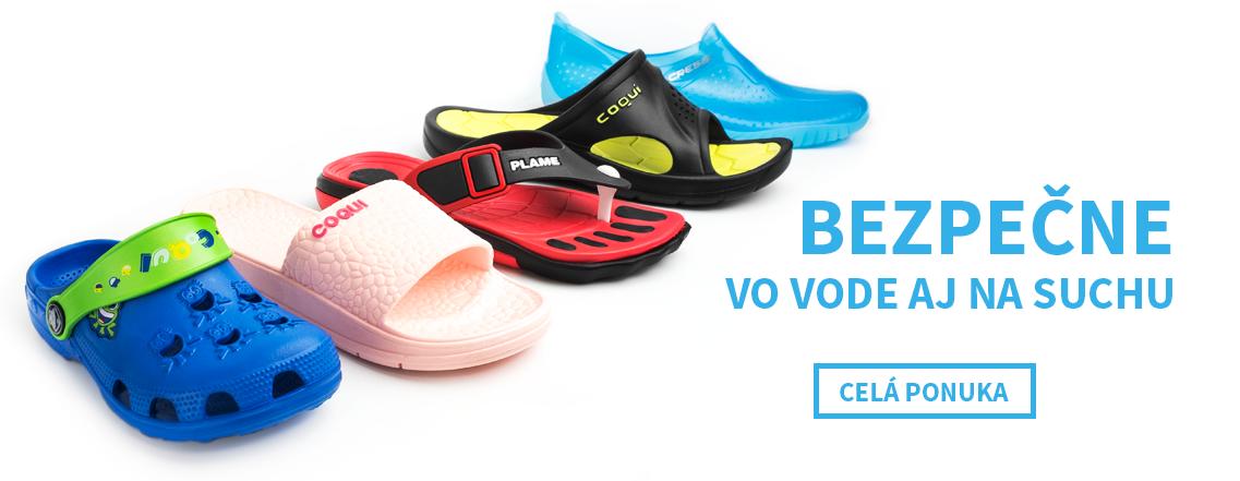 Topánky do vody a plážová obuv na leto