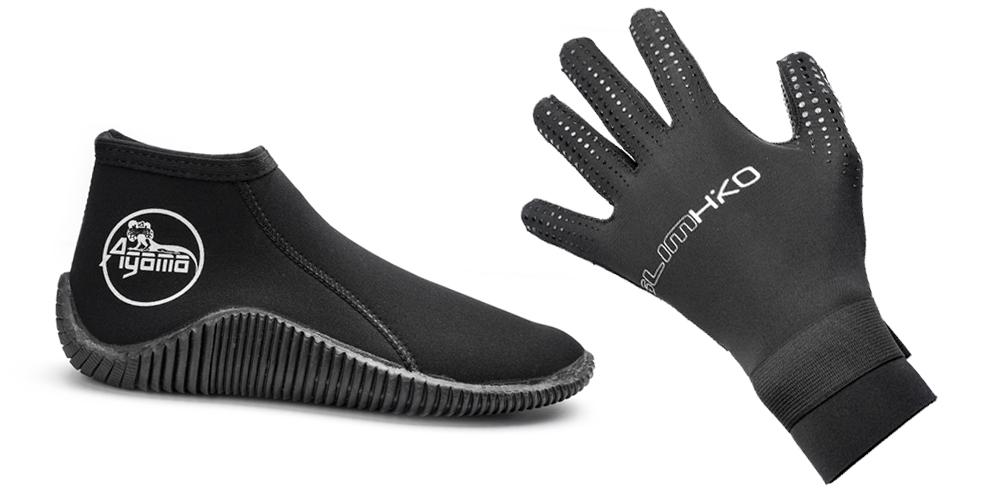 Neoprénové rukavice a topánky
